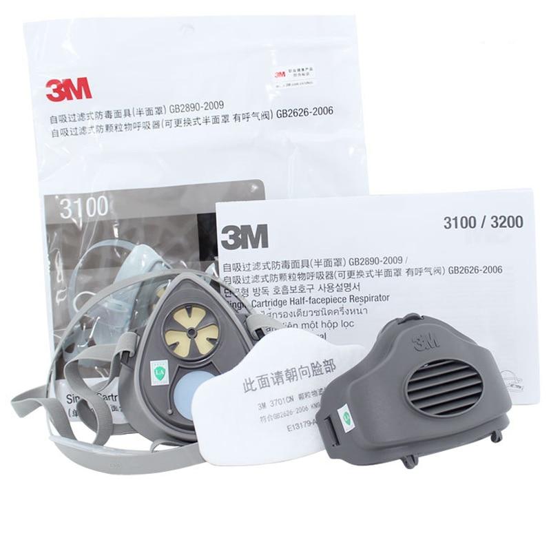 3M 3200 + 10pc3701CN Զտիչ բամբակ կես դեմքի GAS - Անվտանգություն և պաշտպանություն - Լուսանկար 6