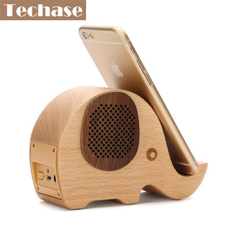 Us 30 39 24 Off Techase Bluetooth Speaker Wireless Mini Speaker Wooden Altavoz Animal Design Elephant Phone Stand Pad Hold Function Caixa De Som In