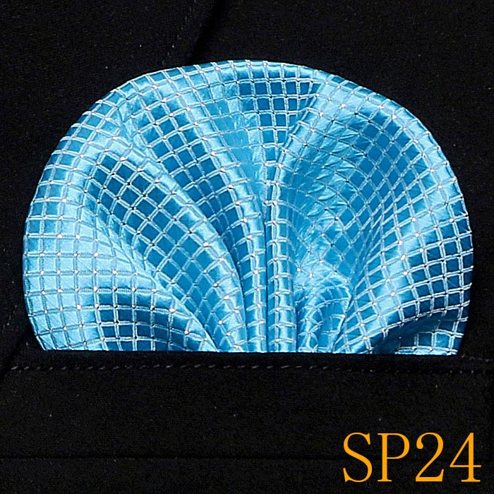 50 colorsPaisley Floral Men Silk Satin Pocket Square Hanky Jacquard Woven Classic Wedding Party Handkerchief Vintage Dot Hankies