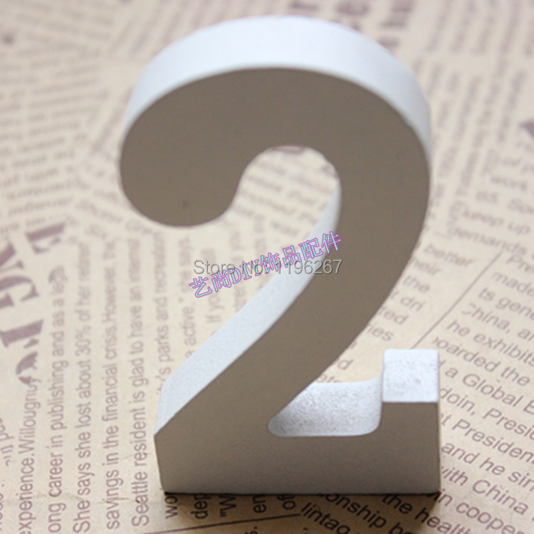 u003c4 pcslotu003e wooden craft white color wedding table numbers wedding decoration