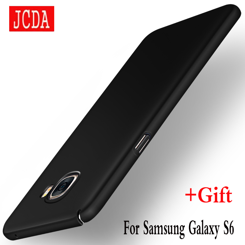 JCDA Brand For Samsung Galaxy S6 GalaxyS6 SamsungS6 G9200 S 6 mobile phone case Silicone cover Luxury Silm Hard Frosted PC Back