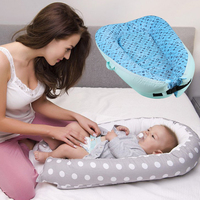 Portable Baby Bed Cradle Soft Cotton Baby Nest Washable Infant Crib Children's Bed Removable Babynest Toddler Traveling Cradle