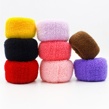 цена на AIKE 6pcs/lot New Women Big Wide Soft Rubber Bands Hair Holders Elastic Accessories Tie Gum Fashion Free Shipping