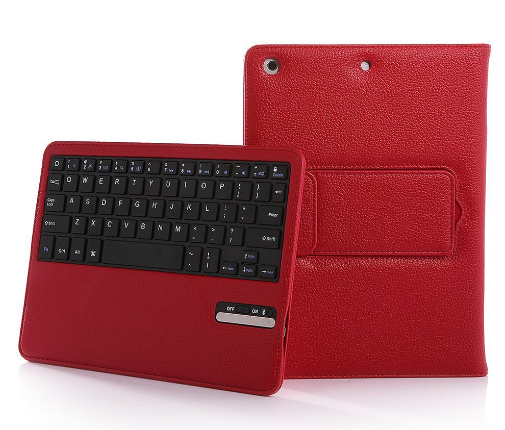 Bluetooth Keyboard Case For Ipad Air 1/2 Removable Leather Wireless Keyboard Cover For Ipad 5/6 [Ios 10+ Support]