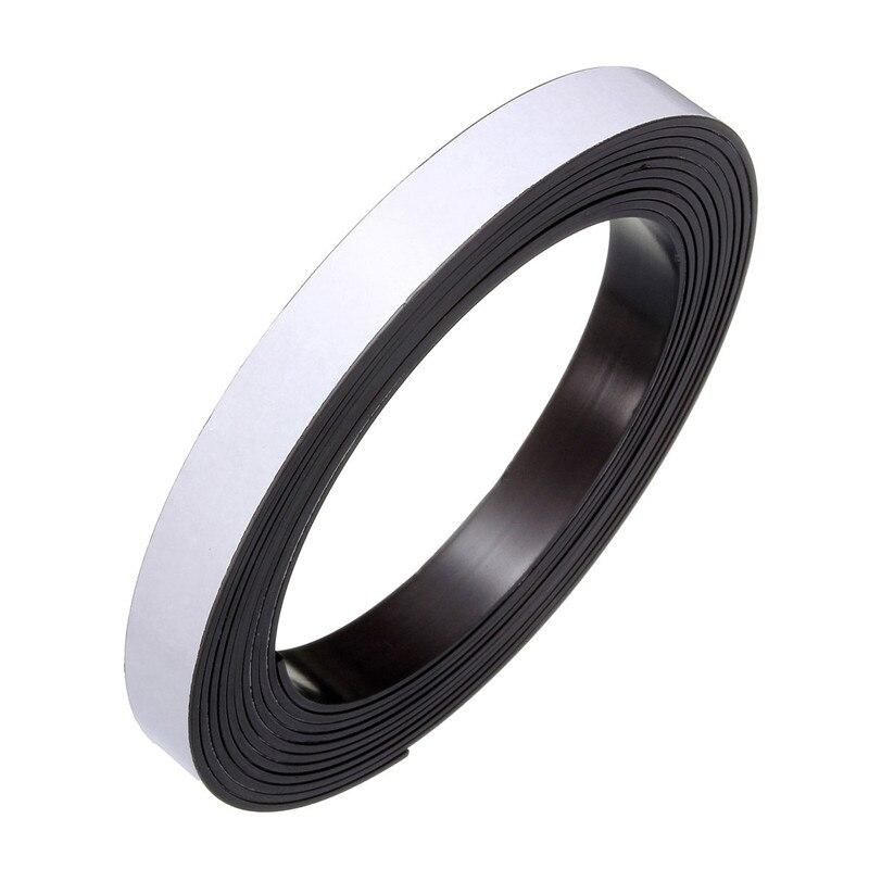 3 Meters Self Adhesive Magnetic Tape Magnet Strip 12.7mm(1/2 Inch) Wide 1pcs 18mm x 5mm single sided self adhesive shockproof sponge foam tape 3 meters