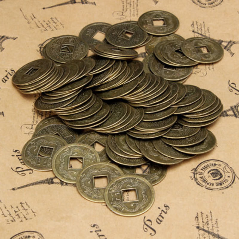 Gambar Uang Koin 100 China 100 Pcs Feng Shui Cina Oriental Kuno Kaisar Uang Koin