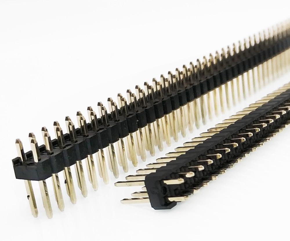 5PCS 2.54mm Pin Header, 0.1