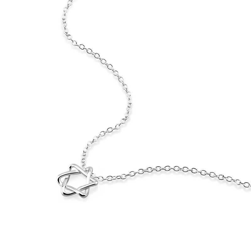 Ladies choker necklaces Elegant Star Girl 925 Sterling Silver Woman Charm Sweet Romantic Chic Silver Chocker Jewelry Wholesale