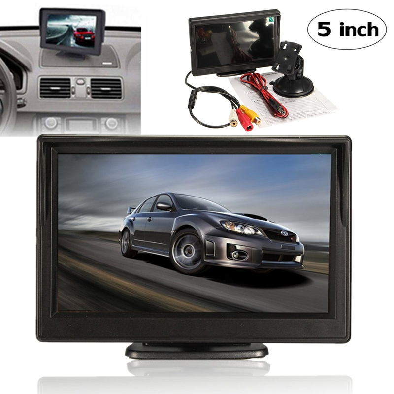 5 Inch Security Reverse Backup Parking Night Vision Display VCR DVD Player LCD TFT Car Monitor