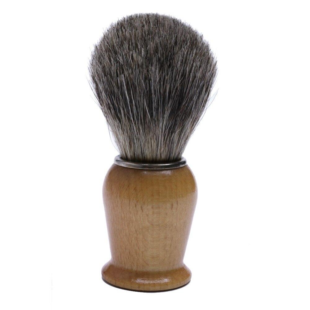 New Salon Badger Hair Wood Handle Wet Shaving Brush For Men Shave Barber Tool