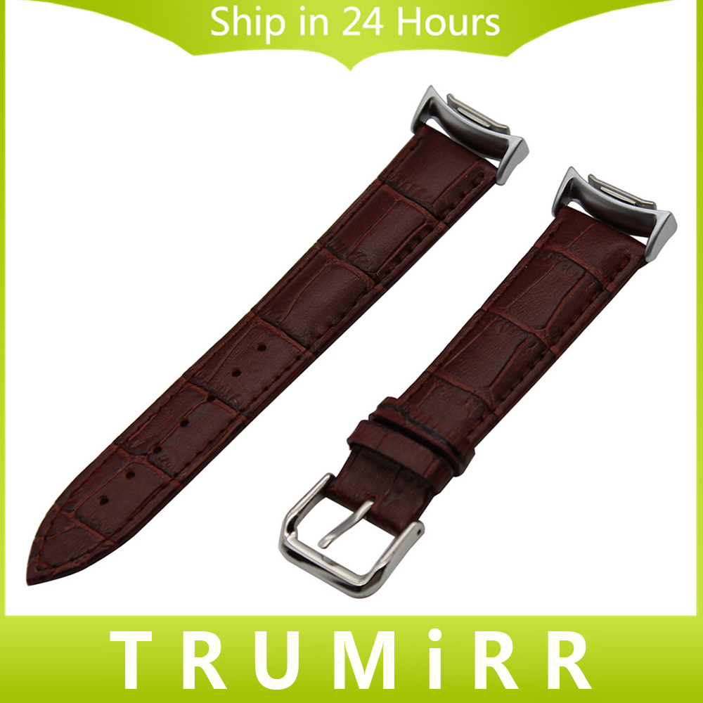 Genuine Leather Watchband + Adapter for Samsung Gear S2 SM-R720 / R730 Watch Band Croco Strap Wrist Bracelet Black Brown Red паяльник 60w