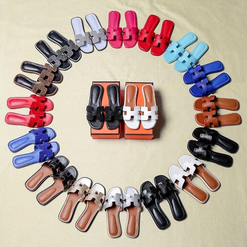 Frauen Schuhe Frauen Sandalen Ausdauernd Luxus Marke 2019 Neue Sommer Hausschuhe Frauen Cut Out Beach Sandalen Frauen Rutschen Hausschuhe Indoor Slip Auf Flip-flops Size43