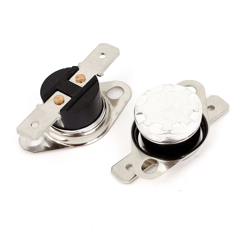 High Quality 10Pcs/Lot KSD301 KSD310 10A 250V Bimetal Disc Temperature Switch Thermostat 45-160 Degree Normal Closed 2pcs ksd9700 250v 5a bimetal disc temperature switch n c thermostat thermal protector 40 135 degree centigrade