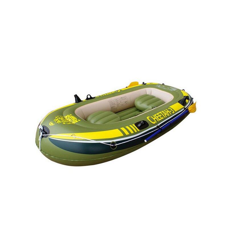 2/3/4 personne bateau gonflable canot kayak coussin épais pour bateaux pliant kayak bateau de pêche à la dérive spécial épais assaut