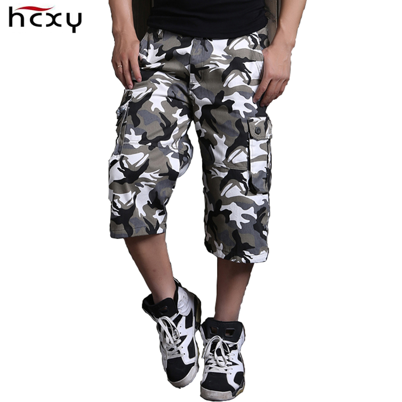 HCXY Large size mens shorts tide plus fertilizer to increase summer casual shorts men tooling camouflage