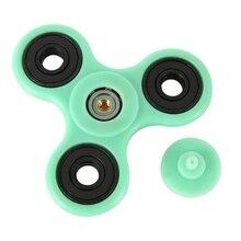 2017 Hot Green Plastic Hand Spinner Fidget EDC Fidget Spinner Toys Sensory Fidgets Autism ADHD Anti Stress Funny gifts
