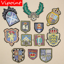 VIPOINT embroidery army patches college badges applique for clothing XW-112