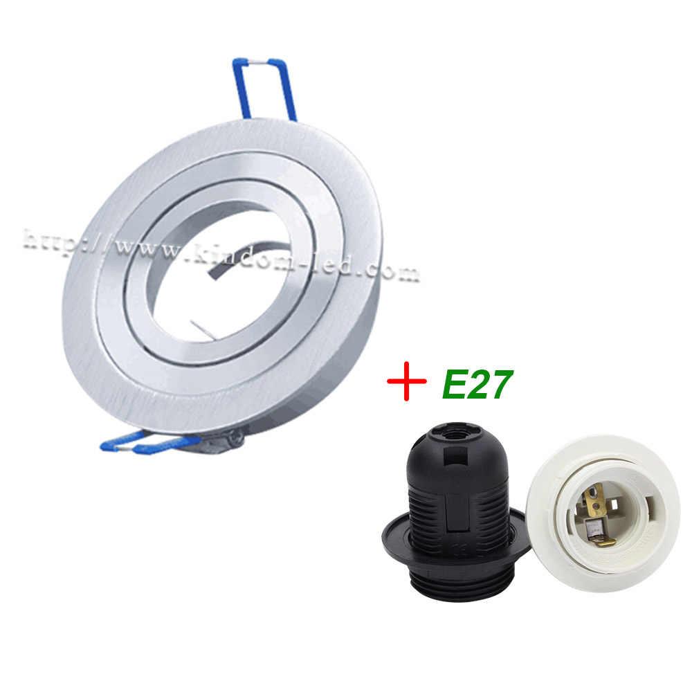 Белый точечный светильник Встраиваемый свет комплект Регулируемый светильник Рамка круглый фитинг GU10 MR16 E14 база Встроенный светодиодный потолочный светильник