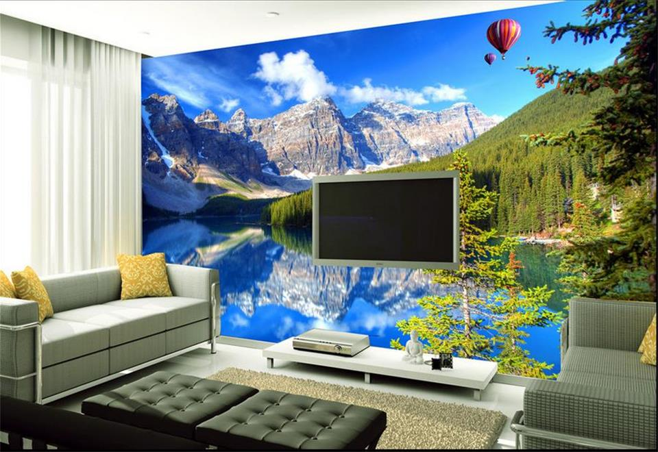 Custom photo 3d room wallpaper Non-woven mural Snow mountain lake landscape painting 3d wall murals wallpaper for walls 3 d custom photo 3d ceiling murals wall paper blue sky rose flower dove room decor painting 3d wall murals wallpaper for walls 3 d