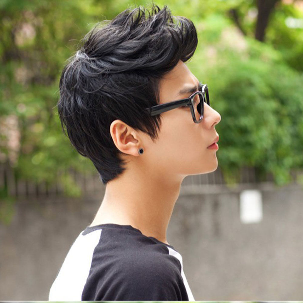FREE SIPPING hot sale        Mens Male Wig Handsome Vogue Sexy Korean Boys  Short Hair Wigs Cosplay f396f35e81ca