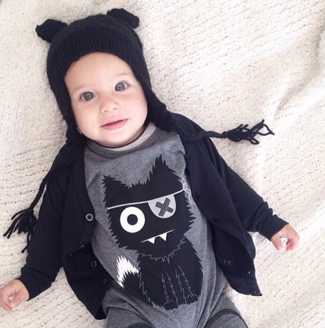 9bba5e098 New 2017 baby rompers baby boy clothing cotton newborn baby girl ...