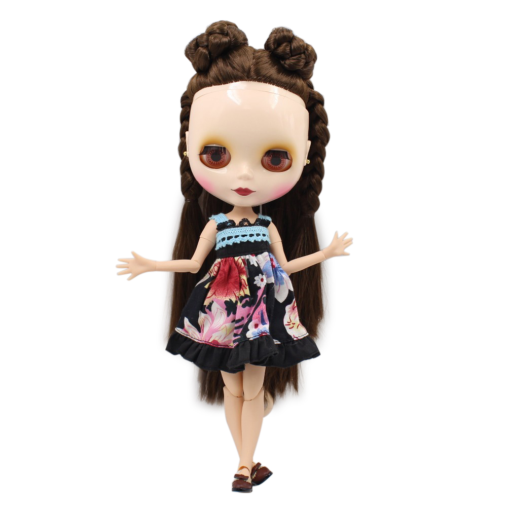 free shipping factory blyth doll brown hair white skin joint body 230BL0521 bjd neo 1/6 30cm цена