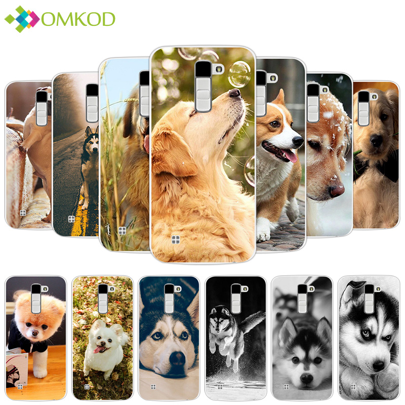 Чехол для LG K10 LTE K 10 m2 K410 k420n K430DS f670 двойной Чехол милые мягкие собака за ...