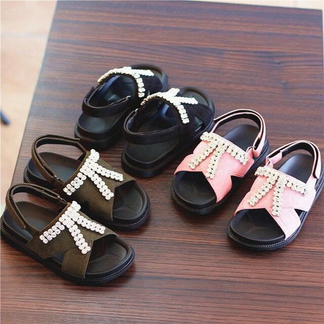 Fashion Design Nauhutu Kids Sandals Rhinestones Stud Slink Back Girls  Stylish Shoes Toddler Little Size 26~37 Summer Shoe 9318a71f3ab5