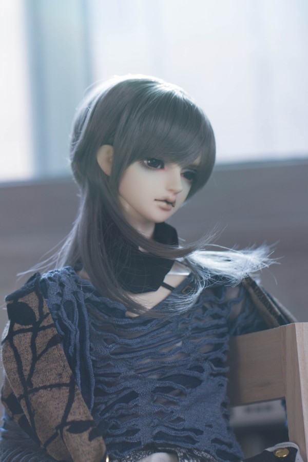 Have An Inquiring Mind Bjd Doll Wigs Long Smoky Gray Hair Wigs For 1/3 Bjd Dd Sd Doll High-temperature Wire Hair Wigs Doll Accessories