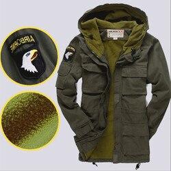 Армейский див США 101-го поколения Куртка с капюшоном M56 (Repro), Толстый плащ