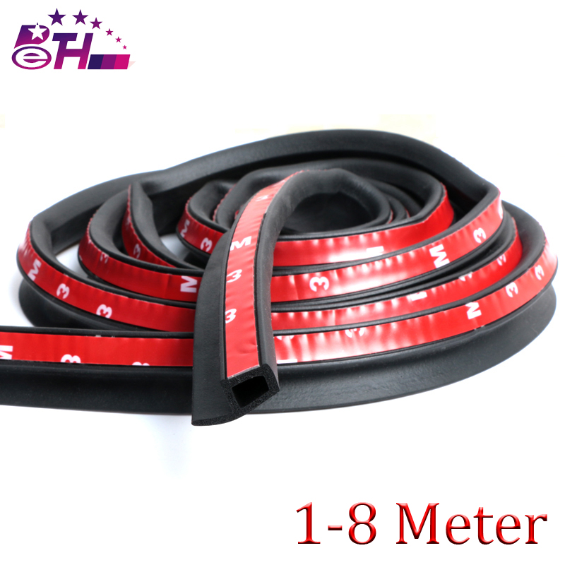 1~8 Meter P type weatherstripping car door rubber seal, car door strips car Stickers car accessories ...