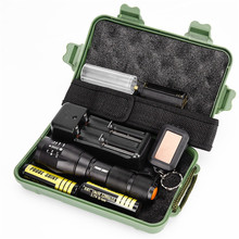 1set Super Bargain 5 Modes G700 X800 Zoomable Military Grade Tactical LED Flashlight Torch 18650 Outdoor 2017 NOA29