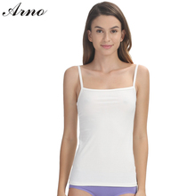 ARNO Pure Silk Women Inner Basic Camisoles 2016 Simple Underdress Undershirt Sexy Underwear Slim Female Vest Sleeveless Tanks-2