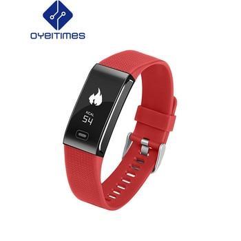 OYEITIMES CK18 Smart Bracelet Sleep Monitor Fitness Tracker Alarm Clock Activity Tracker Women Men Heart Rate Monitor for IOS