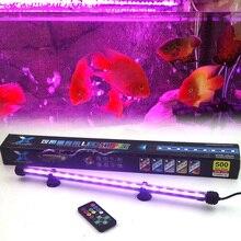 De alta calidad 25-55 cm de Control Remoto de Colores LED Lámpara de Luz Del Tanque de Pescados Del Acuario de Coral 5050 RGB Luces Sumergibles Envío Libre