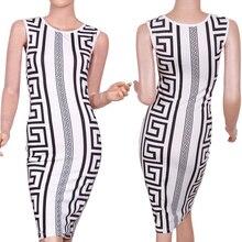 2016 Summer Dress New Fashion Desigh Geometric Print Elegant Bodycon Pencil Mini Dress Sleeveless Summer Style For Women
