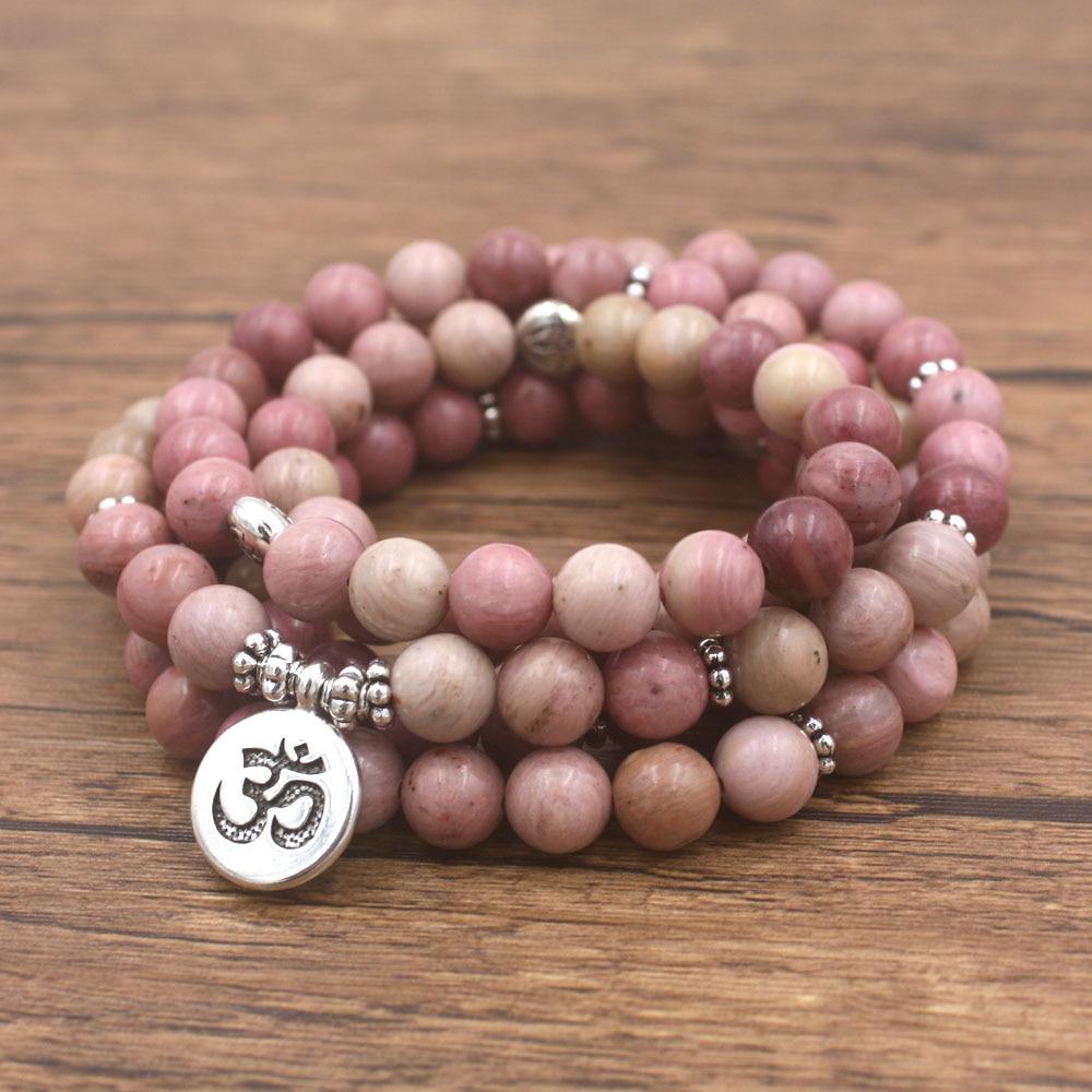 Rhodonite Mala Beads 2