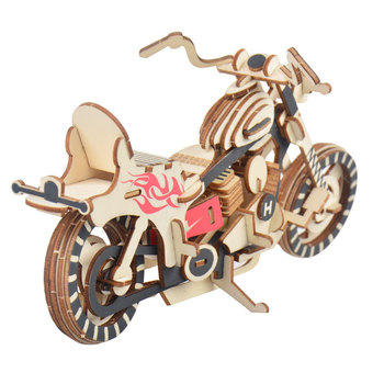 Laser Cutting 3D Wooden Puzzle Jigsaw Vehicle Harley Motorcycle DIY Assembly Kit Kids Educational Wooden Toys For Children Boys laser cutting 3d wooden puzzle jigsaw construction ferris wheel diy manual assembly kids educational wooden toys for children