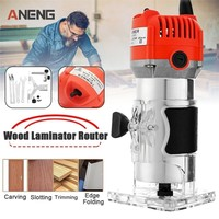 Router Trimmer 450w 650w 30000rpm Durable Small Copper Motor Carving Machine 6mm Electric Woodworking Trimmer Power