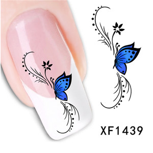 Image 3 - 50pcs Promotions Nail Art Stickers Flower Long Vine Black Lace Decals Decorations Manicure DIY Styling Wraps Tools XF1422 1469