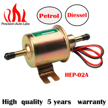 12V Electric Fuel Pump Low Pressure Bolt Fixing Wire Diesel Petrol HEP-02A For Car Carburetor Motorcycle ATV 5pcs petrol snap in primer bulb fuel for chainsaws blowers trimmer carburetor
