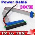 30 cm de Energia Molex PCI-E Riser De 1X a 16X Conversor Adaptador Riser Cartão Cabo de Extensão PCI Express para Bitcoin Miner mineração