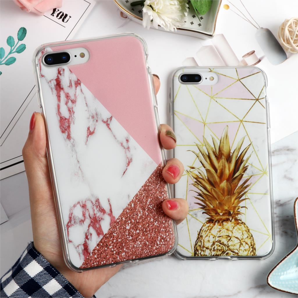 Marble Pineapple TPU Soft Case for iPhone 11 Pro XS Max 6 6S X 5 5S SE 9 for Cover iPhone 7 8 Plus Case for iPhone XR Case Funda