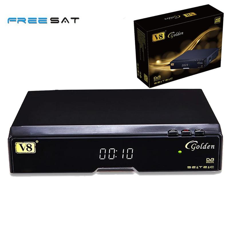 Freesat V8 Golden TV Box 1080P Full HD Combo USB Wifi Receptor de Satelite youtube powervu IPTV Satellite Receiver Web TV Video golden media wizard hd в сургуте