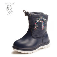 Dollplus Russia Winter Baby Boys Warm Snow Boots Fashion Cool Totem And Non Slip Keep Warm