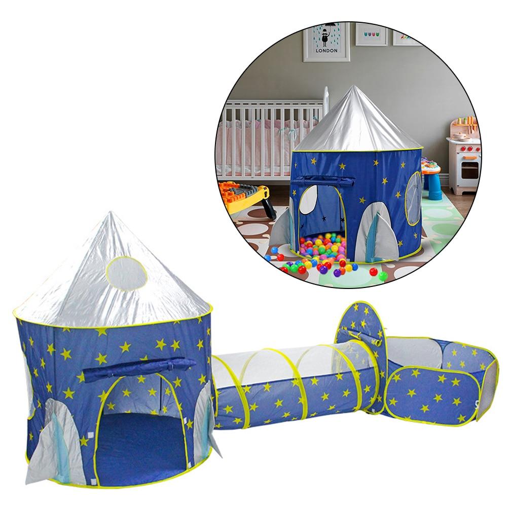 8d7c8a30 3-en-1 portátil a nave espacial de los niños de Tipi, seco piscina cohete  Tipi tienda para los niños bola caja de piscina para niños