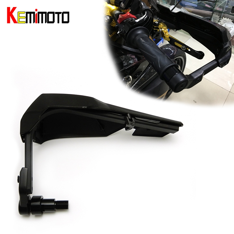 KEMiMOTO Motorcycle Handle Guard SCOOTER BRUSH BAR HAND GUARDS For Yamaha MT07 MT09 XSR700 SXR900 MT 07 For Kawasaki Z900 2017