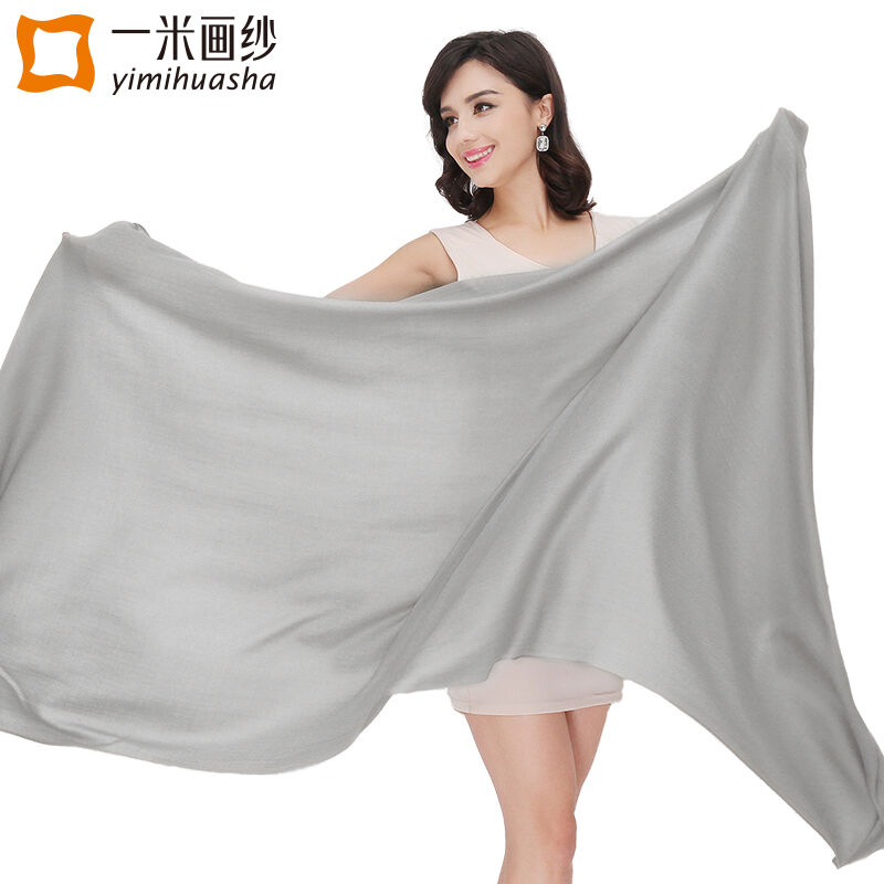 Высокое качество 2017 чистой шерсти кашемировый шарф женские зимние однотонные платки и палантины большой елочкой одеяло foulards Femme