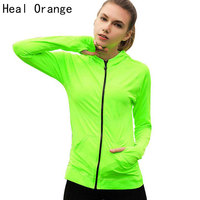 2016 Women Quick Dry Sport Jackets Long Sleeved Sweatshirt For Woman Clothes For Running Fitness Sport