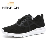 HEINRICH 2018 Men Sneakers Summer Fashion Breathable Mesh Shoes Men Lace Up Shoes Lightweight High Quality Black Flats Shoes